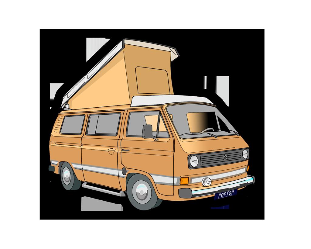 VW T3 Joker - Poptop Campers