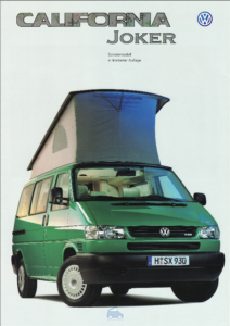 Brochure Brochure VW T4 California Joker 1998 (D)