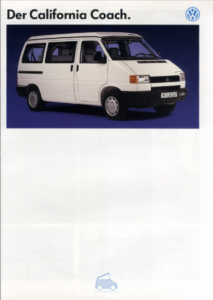Brochure Brochure VW T4 California 1991 (D)