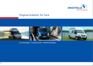 Brochure Brochure Westfalia Accessoires Ford Nugget 2006