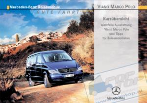 Brochure Korte handleiding Mercedes Viano Marco Polo 2005 (D)