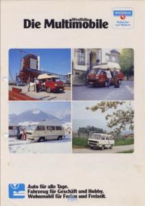 Brochure Brochure VW T3 Westfalia Joker 1984 (D)
