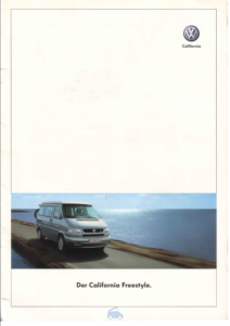 Brochure Brochure VW T4 California Freestyle 2003 (D)