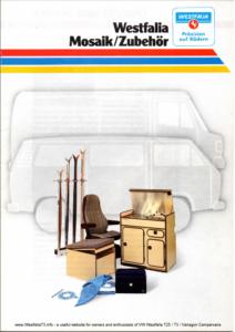 Brochure Brochure VW T3 Mosaik Joker 1985