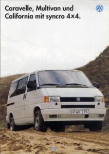Brochure Brochure VW T4 Syncro (D)