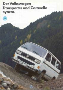 Brochure Brochure VW T3 Syncro 1991 (D)