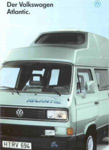 Brochure Brochure VW Westfalia T3 Atlantic 1990 (D)