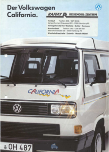 Brochure Brochure VW Westfalia T3 California 1990 (D)