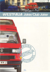 Brochure Brochure VW Westfalia T3 Club Joker 1988 (D)
