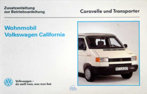 Brochure Instructieboekje VW Westfalia T4 California 1991 (D)