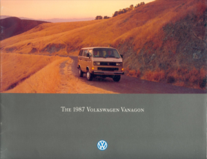 Brochure Brochure VW T3 Vanagon 1987 (USA)