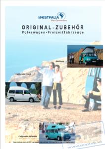 Brochure Westfalia Accessoires voor VW California T4 2001 (D)