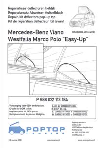 Brochure Reparatieset Abweisers Viano Marco Polo