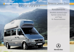 Brochure Handleiding Mercedes Sprinter Westfalia James Cook