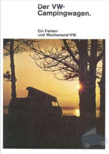 Brochure Brochure T2 Westfalia 1972 (D)