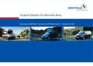 Brochure Brochure accessoires Westfalia Viano Marco Polo 2007 (D)