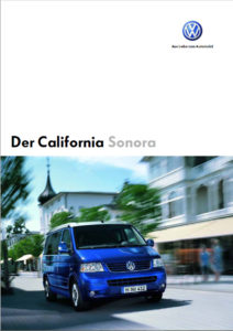 Brochure Brochure VW T5 California Sonora