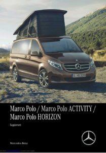Brochure Handleiding Mercedes V-Klasse Marco Polo 2017 (uk)